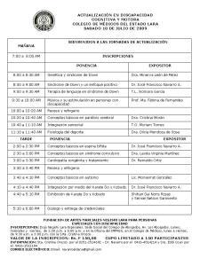 Programa Jornadas